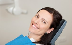 Relaxed woman in the dental chair