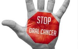 stop oral cancer on hand